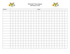 sunday school attendance template 10 best images of sunday school attendance template