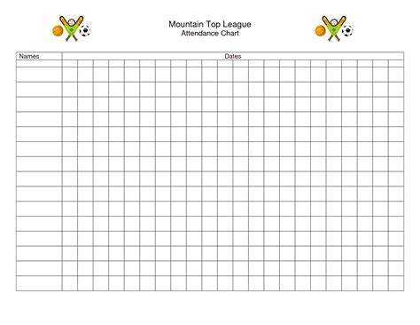 10 best images of printable attendance charts for teachers
