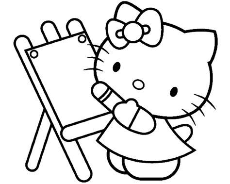 hello kitty painting coloring pages hello kitty painting beautiful coloring page 525852
