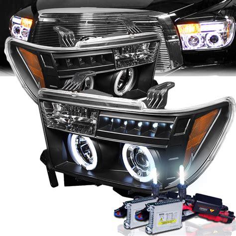 Toyota Tundra Led Headlights Hid Xenon 07 11 Toyota Tundra Eye Halo Led