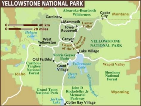 map of yellowstone national park photographs and map of yellowstone national park in wyoming geyser faithful castle geyser