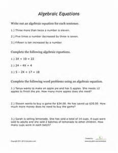 beginning algebra worksheet education com