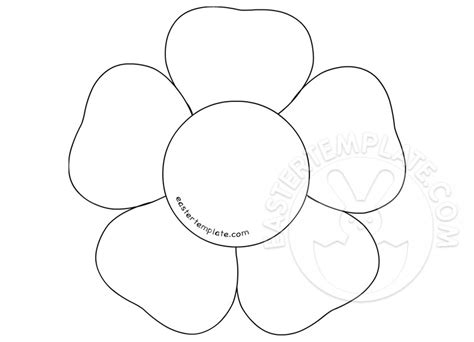 flower template 5 petals simple flower with 5 petals outline printable easter