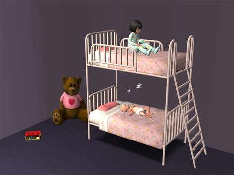 Sims 2 Bunk Beds Mod The Sims The Kinder Beds Maxis Add Ons