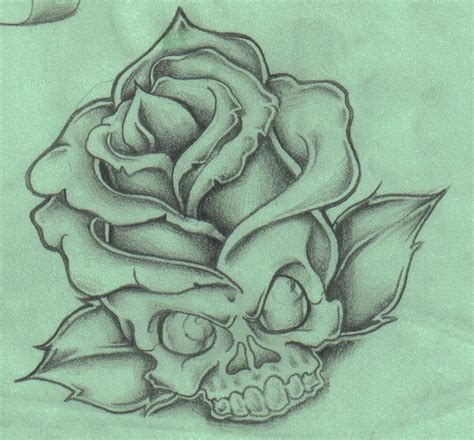 open rose tattoos sugar skull