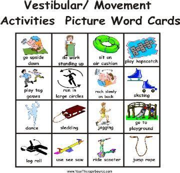 Activity Cards Maker Template by Make Chris Visual Sensory Activity Cards Some Ready
