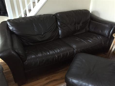 foot rest couch large 3seater leather sofa a chair and foot rest walsall