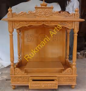 code 76 wooden carved teakwood temple mandir wooden