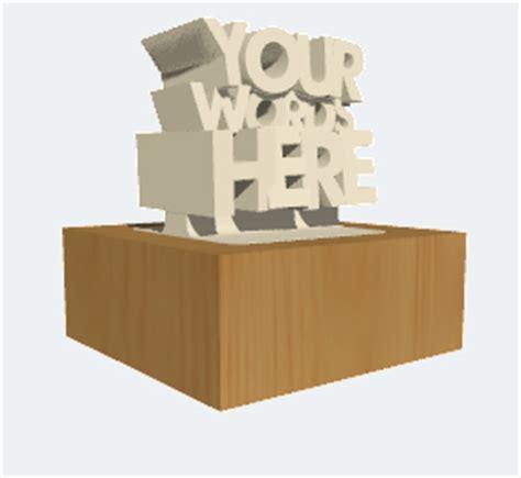 Custom 3d Print Trophy twikit startup 3d prints your awards 3d printing era