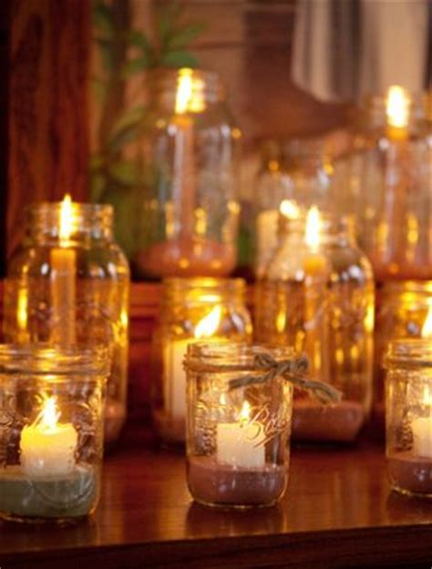 Decorating Jam Jars For Candles by I Really The Candles In Jars And The Ribbons Around