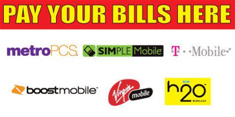 T Mobile Gift Card To Pay Bill - 2 x4 pay your bills here vinyl banner high quality metropcs simple t mobile ebay