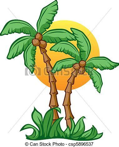 Pohon Pohonan Palm Palem 7cm vectors illustration of coconut vector