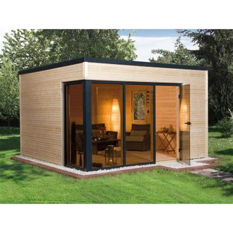 bungalow de jardin bungalow design haut de gamme en bois quot cubilis quot en madriers 45 mm abri de jardin en bois
