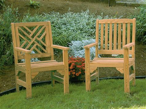 Amish Pine Wood English Garden Chair Outdoor Pine Furniture