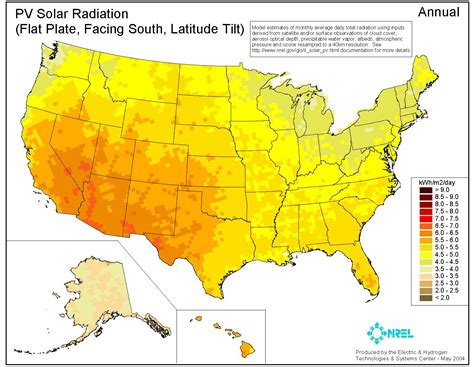 solar radiation map usa solar insolation chart solar insolation data average