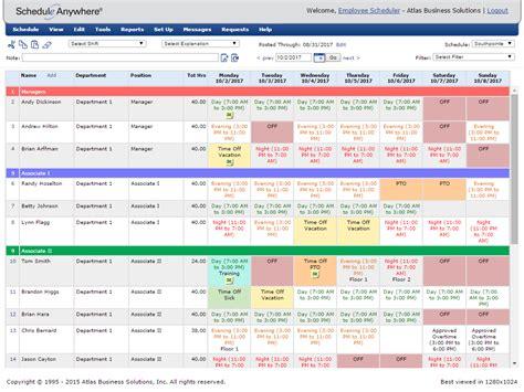free excel employee schedule template excel work schedule work