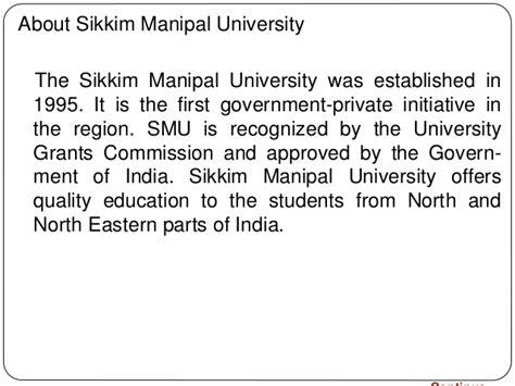 Mba Courses Offered In Sikkim Manipal by Mba Project Report Of Sikkim Manipal