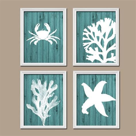bathroom wall decor pinterest bathroom wall art canvas artwork nautical coral reef ocean