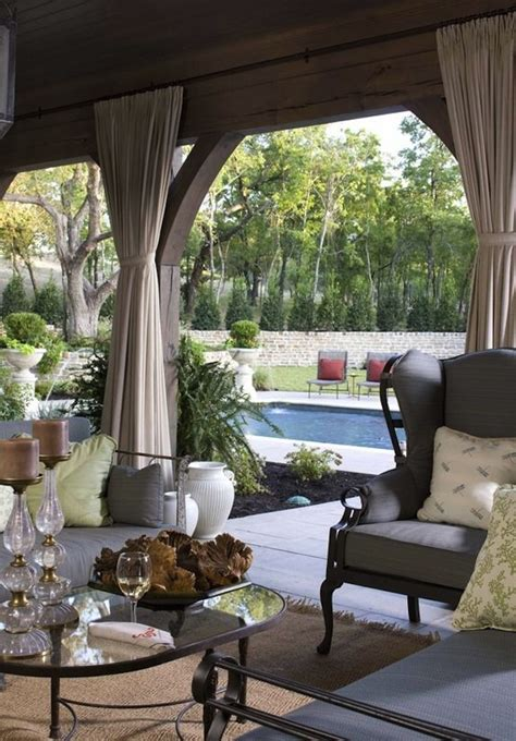 covered patio curtains rustic meets stylish in outdoor spaces artisan crafted