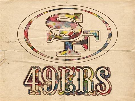 Drawing 49ers Logo by San Francisco 49ers Logo Poster Painting By Florian Rodarte