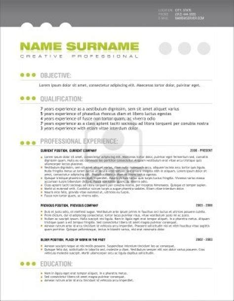 Free Resume Templates Exles by Free Resume Templates Editable Cv Format Psd