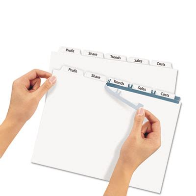 Ave 11446 Avery Print Apply Clear Label Dividers W White Tabs 5 Tab Letter 25 Sets Avery 11370 Template