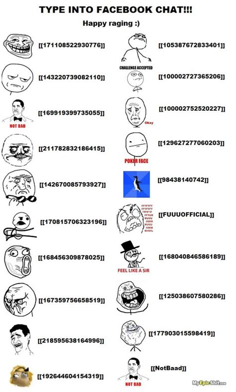 Facebook Chat Meme Faces - how to make rage comic faces in a facebook chat dump a day