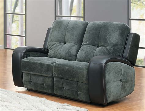 black microfiber recliner homelegance flatbush reclining sofa set textured plush