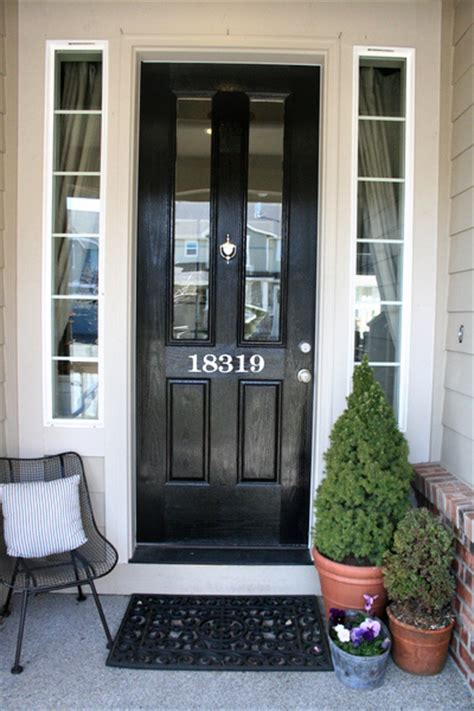 glass door strikes magnetic sticker painted house numbers jones design company