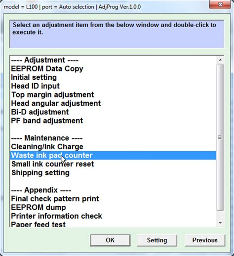 epson l210 waste ink pad resetter key epson l210 adjustment program download