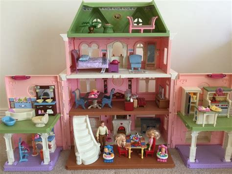 fisher price grand doll house fisher price loving family grand dollhouse furniture dolls accessories vic ebay