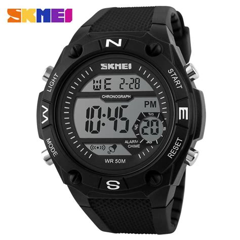 Jam Tangan Skmei S Shock Sport Dg1127 Black Blue skmei jam tangan digital pria dg1093 black white jakartanotebook