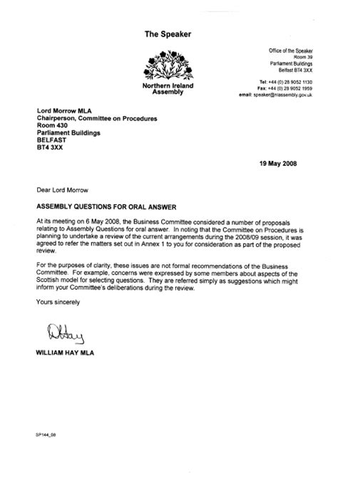 mandate appointment letter template welcome to the northern ireland assembly