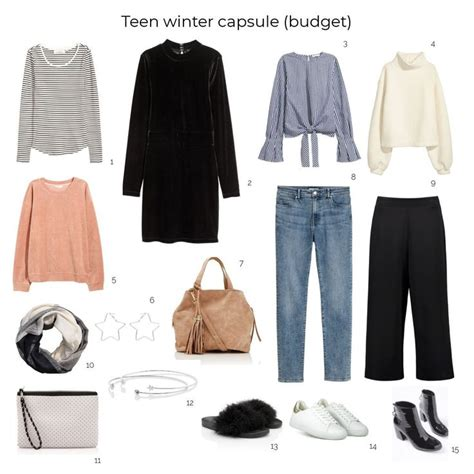 create  teenage winter capsule wardrobe