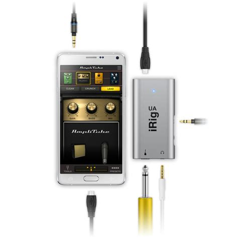 irig for android ik multimedia irig ua guitar effects processor and interface for android