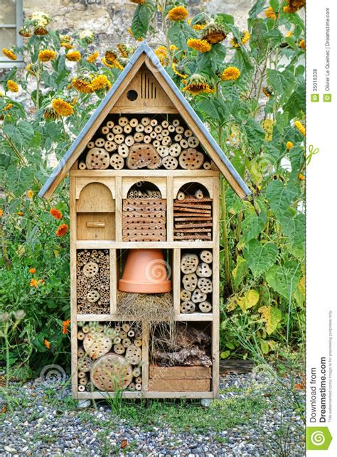 bug house plans craftsman built insect hotel decorative wood house stock photo image of refuge