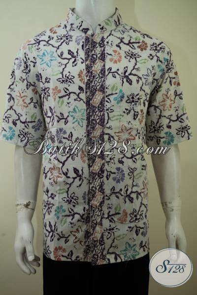 Pakaian Pria 182 pakaian batik pria muda model kerah shanghai baju batik lengan pendek motif unik til trendy