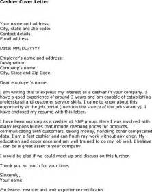 Cover Letter For A Cashier by Sle Cover Letter Specific