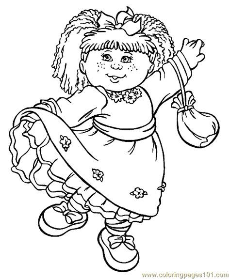 Coloring Pages Cabbage Patch Kids Coloring Page 10 Cabbage Patch Coloring Pages