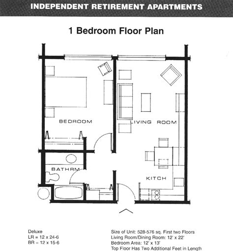 One Bedroom Apartment Floor Plans Search