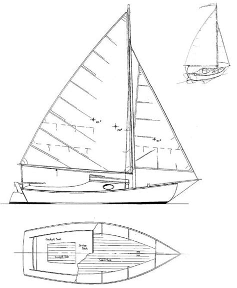 duck boat drawing meadow bird daysailer c cruiser boat plans boat