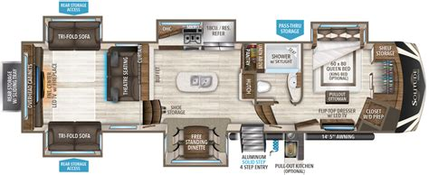 style floor plans 2018 375res 375res r grand design