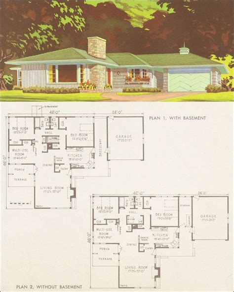 mid century modern ranch floor plan mid century ranch