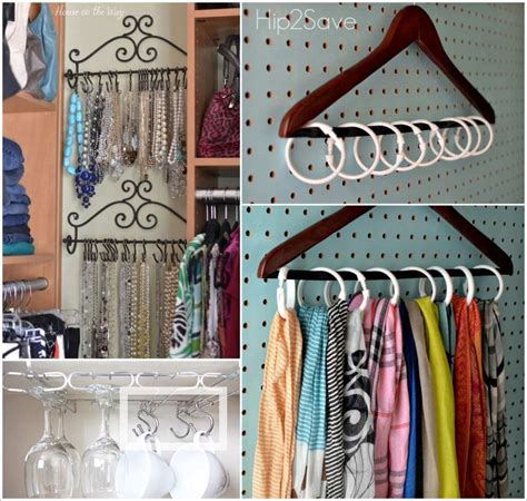 8 Ways Ive Discovered To Organize by 8 Ways To Organize With Shower Rings Or Hooks