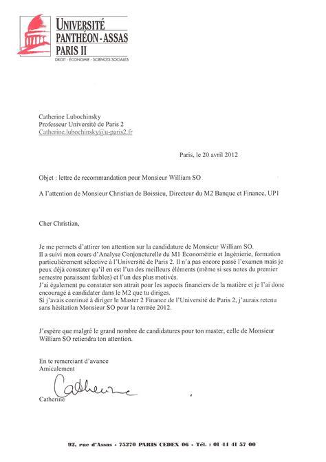 Lettre De Recommandation Master Gratuit T 233 Moignages Alain Piller