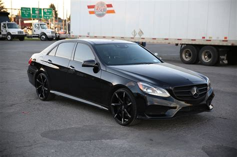 mercedes black on black 2014 mercedes w212 facelift e350 black on black