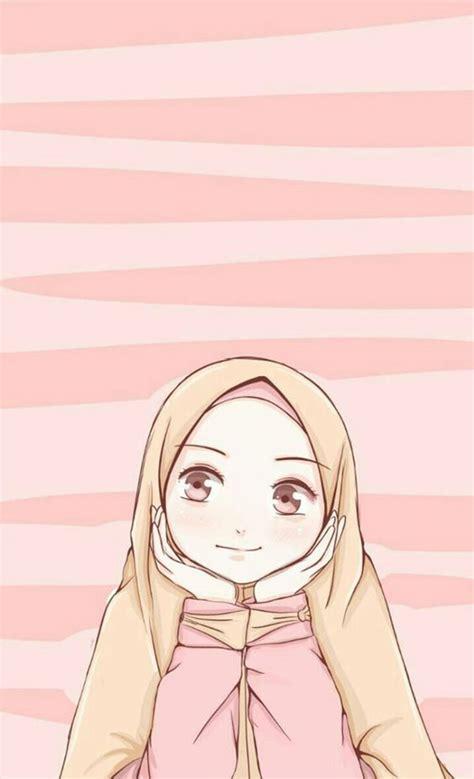 gambar kartun muslimah hd   pinstokcom