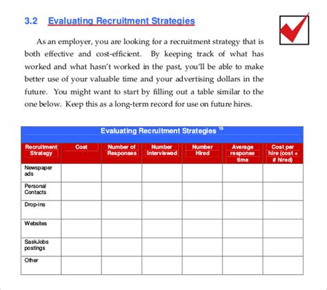 recruiting strategy template 15 recruitment strategy templates free sle exle