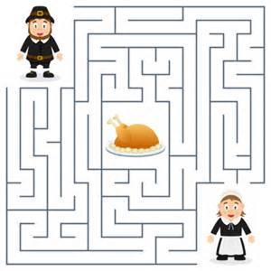 thanksgiving maze game for children kidspressmagazine com