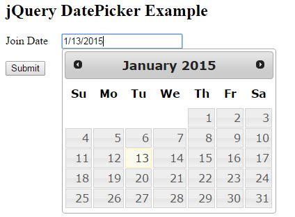 format date using jquery jquery ui datepicker exles in mvc www dotnetmentors com